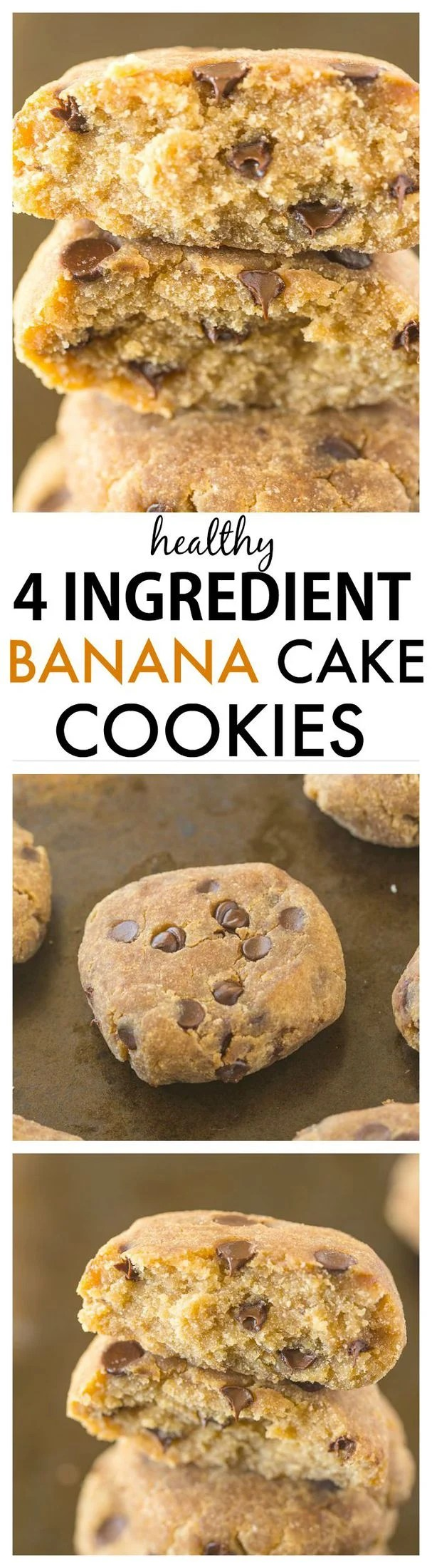 Healthy 4 ingredient banana cake cookies for What ingredients do you need to make a cake