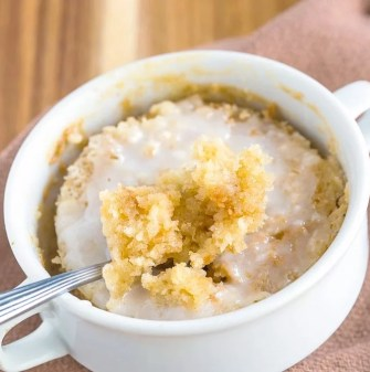 Keto Lemon Mug Cake that tastes like a Meyer lemon cake!