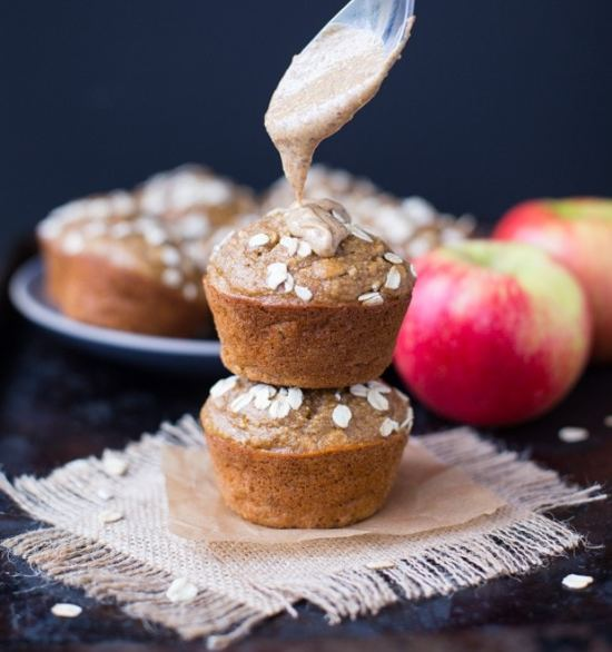 Healthy Apple Almond Butter Muffins_