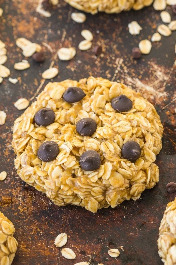 You Only Need Three Ingredients And Five Minutes To Whip Up These Healthy 3 Ingredient No Bake Oatmeal Cookies Chewy And Refined Sugar Free These Cookies