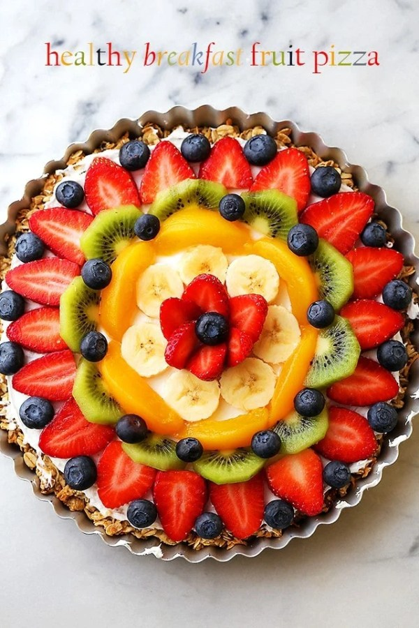 Healthy Breakfast Fruit Pizza