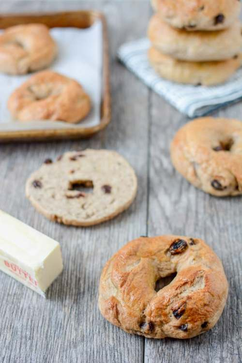 Cinnamon Raisin Bagels 1