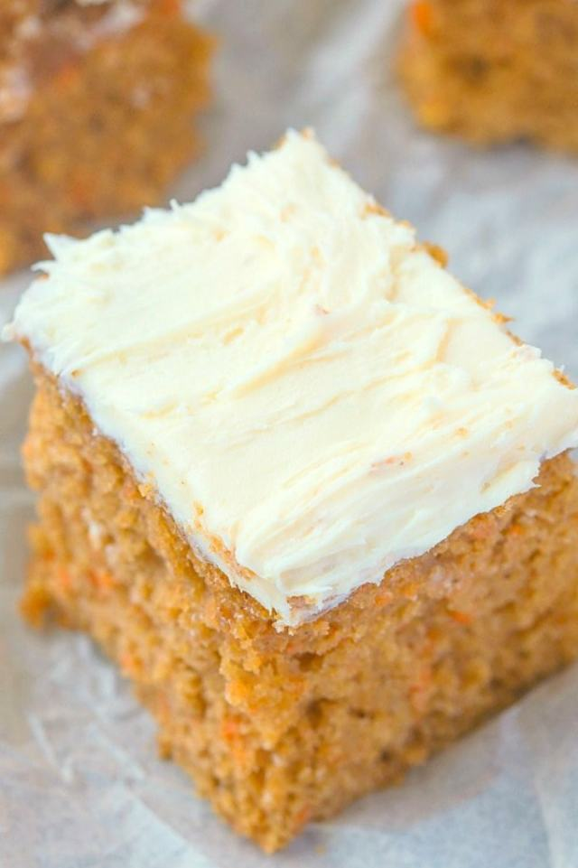 A slice of keto and low carb carrot cake