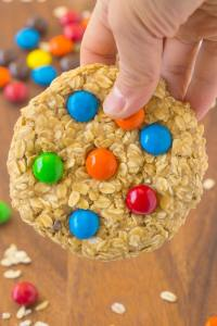 Healthy No Bake GIANT Monster Cookie For ONE! Soft and extra chewy cookie with NO butter, oil, flour or sugar- Ready in 5 minutes! {vegan, gluten free, dairy free recipe}- thebigmansworld.comHealthy No Bake GIANT Monster Cookie For ONE! Soft and extra chewy cookie with NO butter, oil, flour or sugar- Ready in 5 minutes! {vegan, gluten free, dairy free recipe}- thebigmansworld.com
