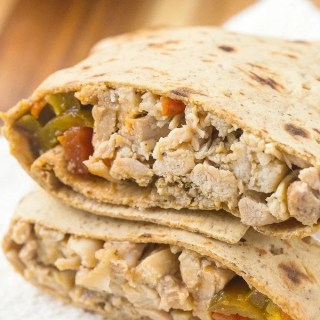 Healthy Low Carb Mexican Chicken Wraps