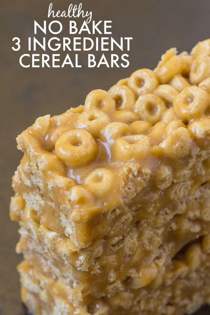 Healthy 3 ingredient no bake cereal bars healthy no bake 3 ingredient cereal bars ready in just five minutes these no ccuart Images
