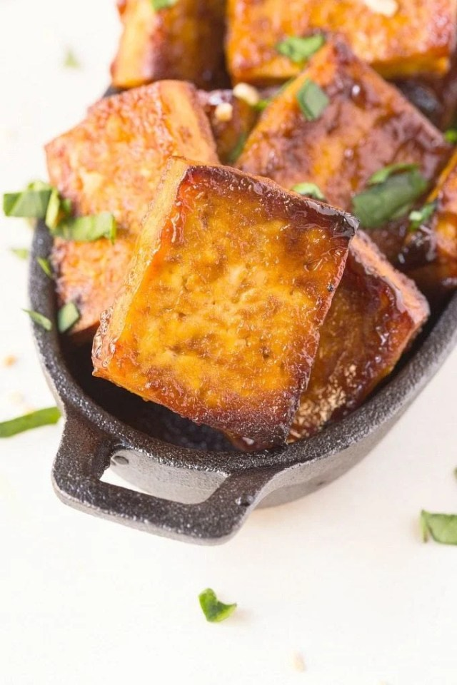 3 Ingredient Spicy BBQ Tofu recipe- Perfect grilled, baked or seared and the BEST Tofu recipe, even carnivores adore it! {vegan, gluten free, low carb recipe}- thebigmansworld.com