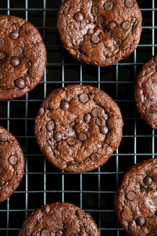 flourless chocolate zucchini muffins