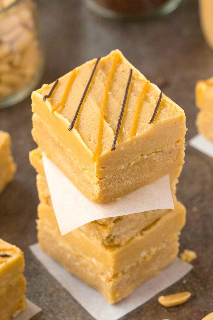 healthy-no-bake-peanut-butter-breakfast-blondies