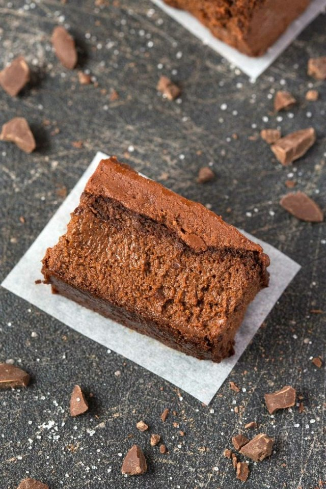 Healthy 3 Ingredient FLOURLESS Applesauce Brownies- SO easy, simple and super fudgy- NO butter, NO flour, NO sugar and NO oil needed at all! {vegan, gluten free, paleo recipe}- thebigmansworld.com
