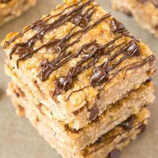 Healthy 3 Ingredient Flourless Banana Bread Bars