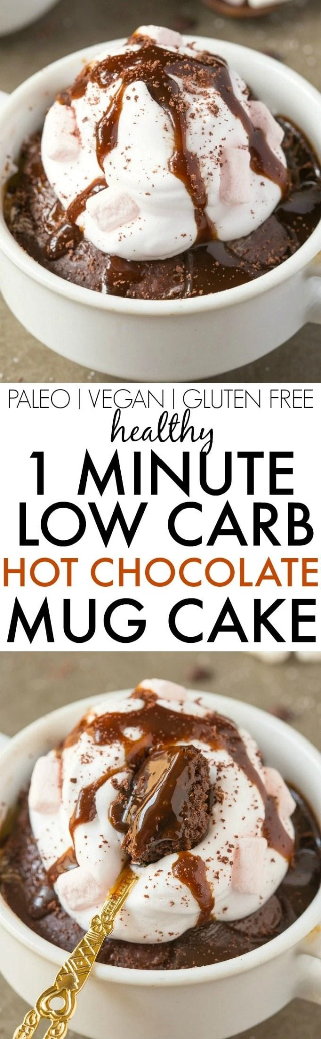 This keto chocolate brownie mug cake is the BEST vegan and keto chocolate fix ready in one minute! An easy keto chocolate dessert recipe made with coconut flour and super low carb- No sugar, NO eggs and completely paleo and gluten-free! #ketodessert #ketorecipe #vegandessert #mugcake #lowcarb #mugbrownie