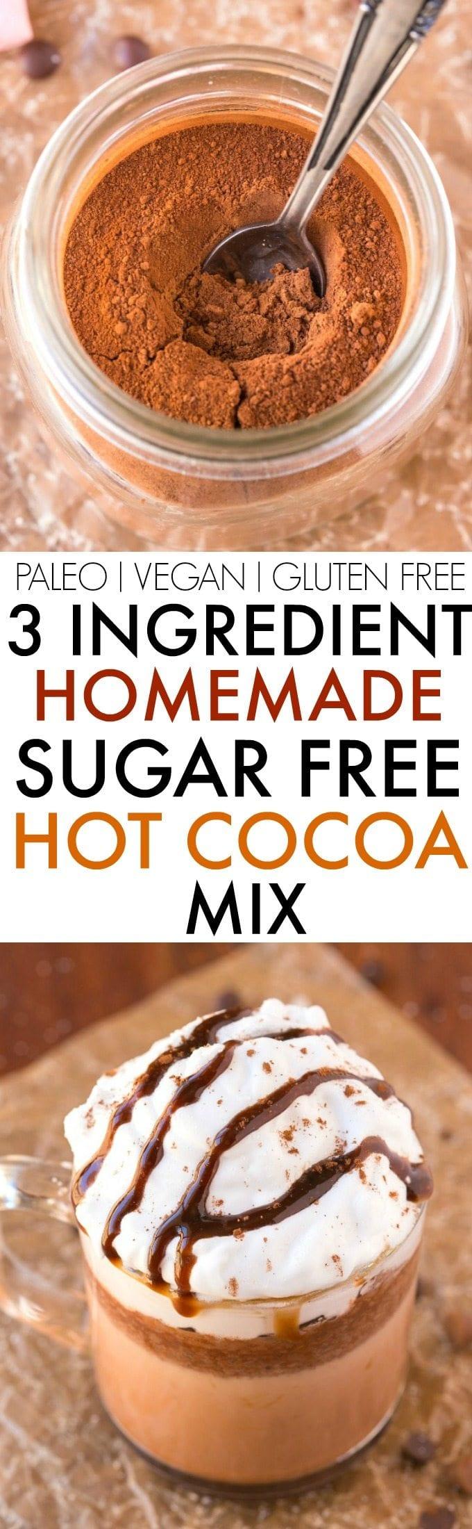 Healthy Homemade Sugar Free Hot Chocolate Mix