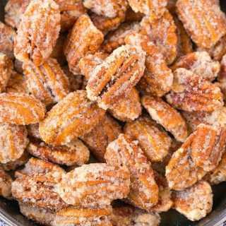 Easy Stovetop Sugar Free Candied Pecans (Paleo, Vegan, Gluten Free)