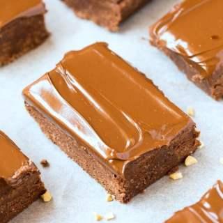 Healthy No Bake Nutella Breakfast Brownies