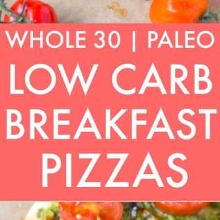 Healthy Low Carb Breakfast Pizza (Paleo, Gluten Free, Grain Free)