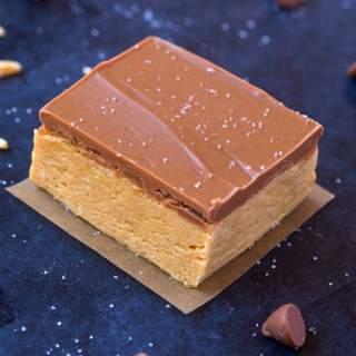 4 Ingredient No Bake Protein Fudge Bars (Vegan, Gluten Free, Sugar Free)