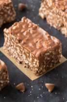Healthy No Bake Peanut Butter Crunch Bars Homemade and made in 5 minutes