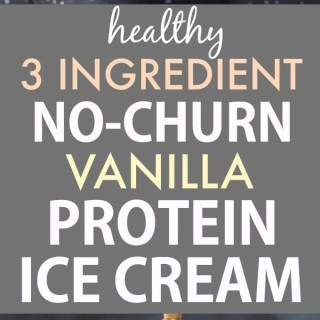 Healthy 3-Ingredient No Churn Vanilla Protein Ice Cream (V, GF, P, DF)- Guilt-free, low carb, dairy free and ready in minutes, this protein packed creamy frozen dessert can be enjoyed hard scoop or soft serve style- No ice cream maker! {vegan, gluten free, paleo recipe}- thebigmansworld.com