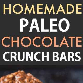 Healthy Homemade Paleo Chocolate Crunch Bars (Vegan, Gluten Free)