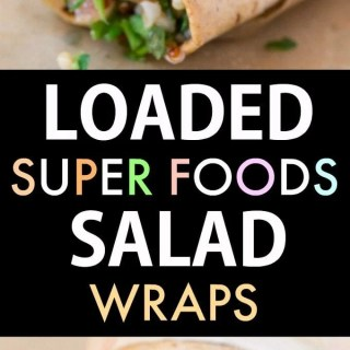 Healthy Super foods Salad Wraps (Vegan, Gluten Free)