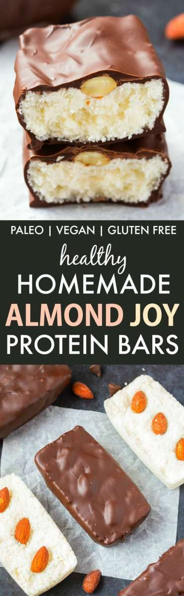 Homemade No Bake Almond Joy Bars (Paleo, Vegan, Gluten Free)