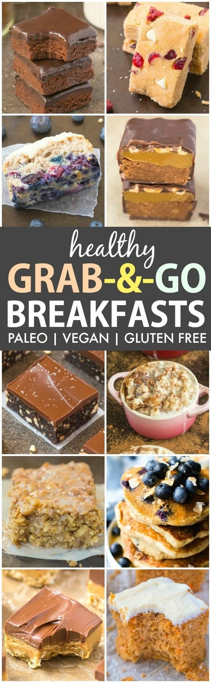 Easy and Healthy Grab and Go Breakfast Ideas (Paleo, Vegan, Gluten Free)- Over 25 Quick meal prep breakfast recipes which can be prepped in advance for busy mornings- Freezer friendly, portable and perfect to keep you satisfied all morning! {sugar free, dairy free, nut free, peanut free recipe}- thebigmansworld.com