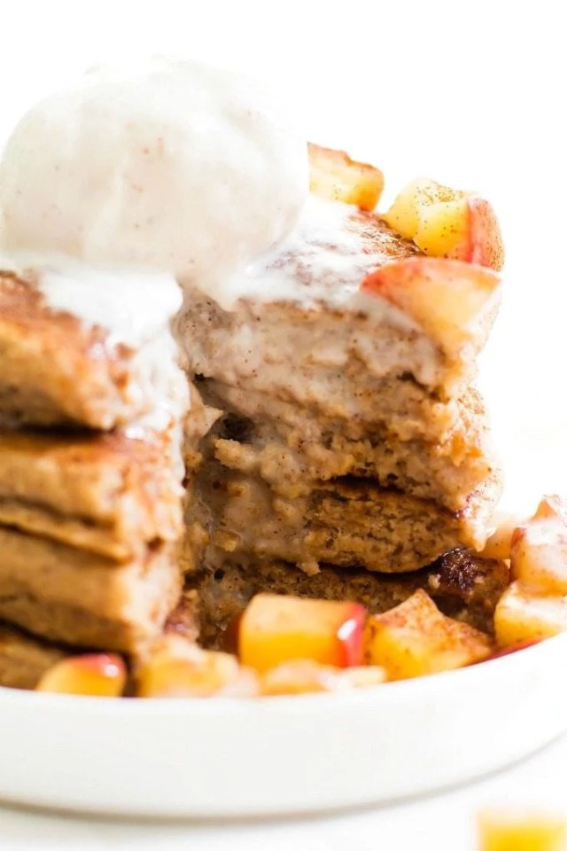 Apple Pie Pancakes recipe that is vegan, paleo, gluten free and keto