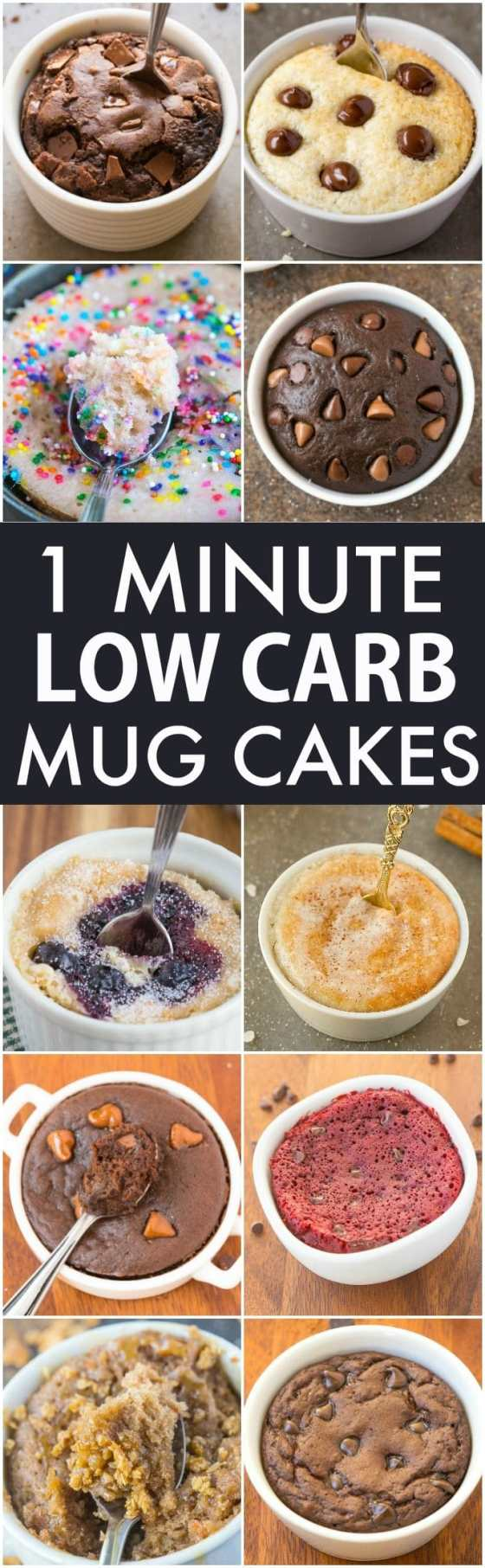 Low Carb Healthy 1 Minute Mug Cakes, Brownies and Muffins (V, GF, Paleo)- Delicious, single-serve desserts and snacks which take less than a minute! Low carb, sugar free and more with OVEN options too! {vegan, gluten free, paleo recipe}- #mugcake #healthy #singleserve | recipe on thebigmansworld.com