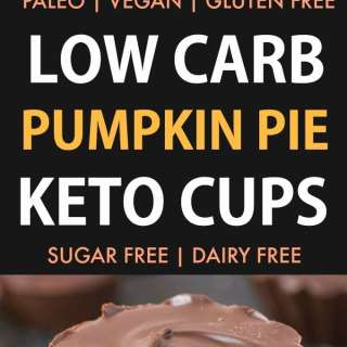 Low Carb Pumpkin Pie Keto Cups (Vegan, Paleo, Gluten Free)- Easy 3-Ingredient homemade pumpkin pie fudge covered in guilt-free chocolate- The ultimate satisfying sweet treat! {v, gf, p recipe}- thebigmansworld.com #keto #ketodessert #fatbomb