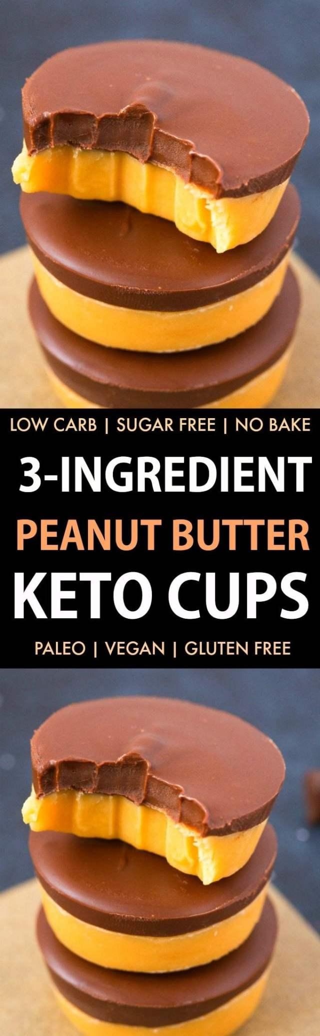 3-Ingredient Keto Peanut Butter Fudge (Paleo, Low Carb, Vegan, Sugar Free, Gluten Free)- Easy, smooth and creamy peanut butter fudge recipe using just 3 ingredients and needing 5 minutes! The Perfect snack or dessert to satisfy the sweet tooth! #keto #ketodessert #peanutbutter #healthy #fudge | Recipe on thebigmansworld.com
