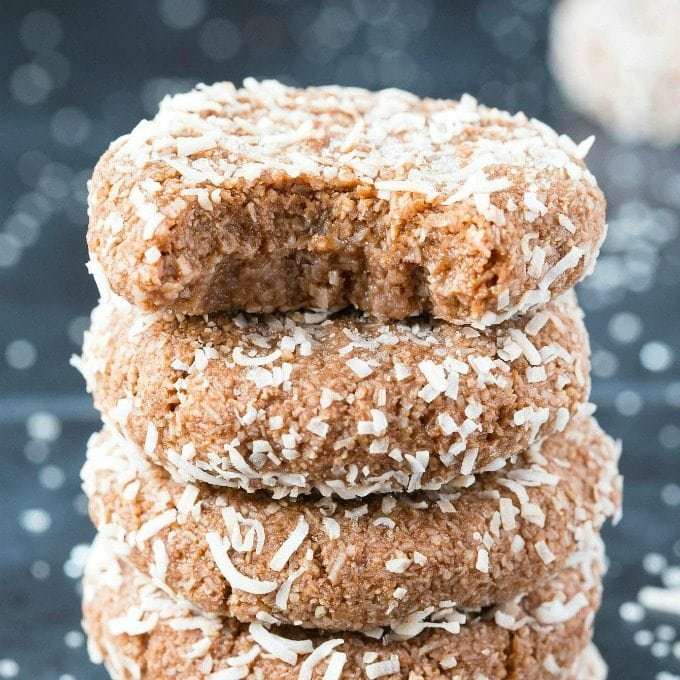 4 Ingredient Paleo Vegan Chocolate Snowball Cookies