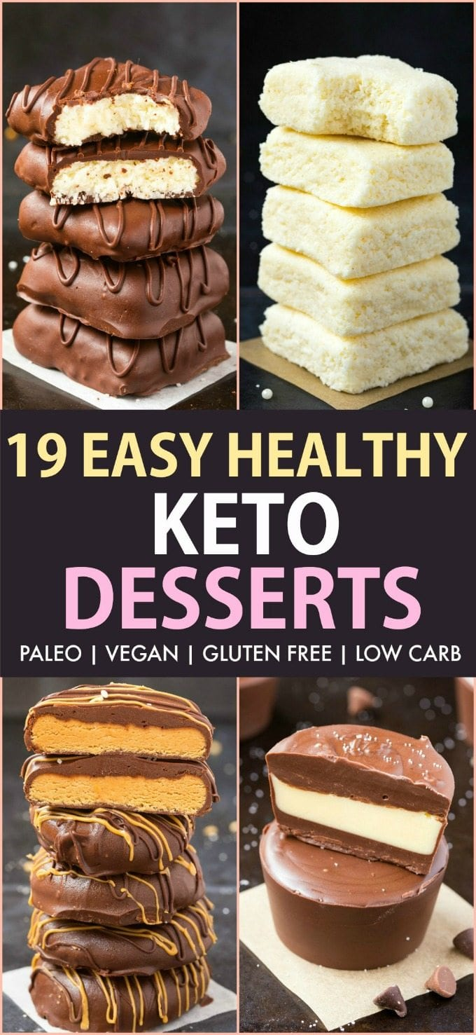 19 Easy Keto Desserts Recipes Which Are Actually Healthy Vegan Paleo