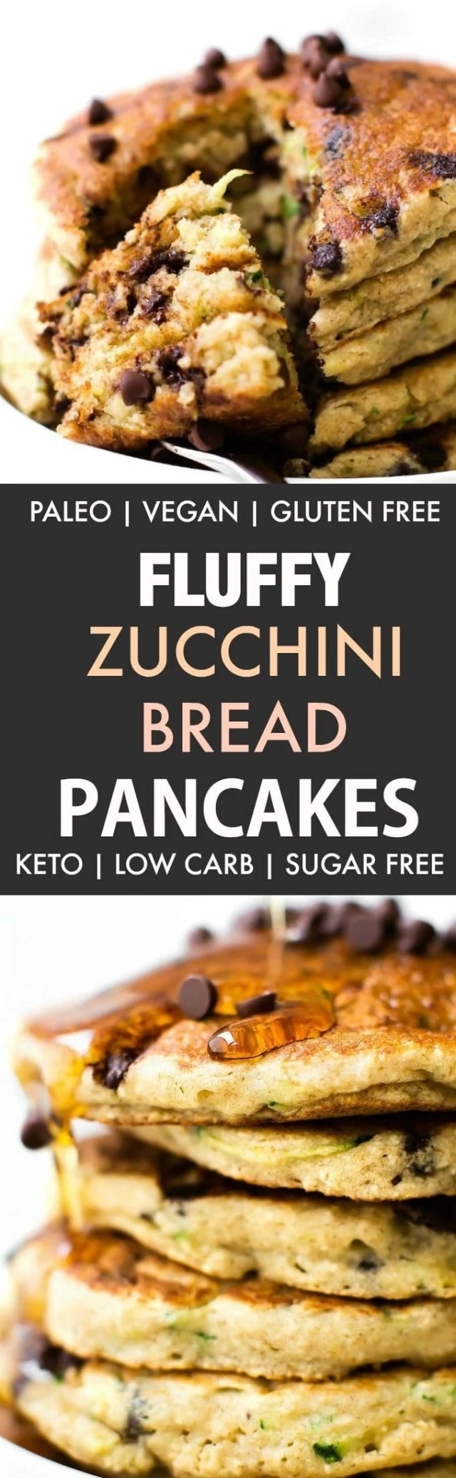 Fluffy Low Carb Keto Pancakes with zucchini
