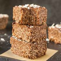 Chocolate Coconut Crunch Bars (Paleo, Vegan, Keto)