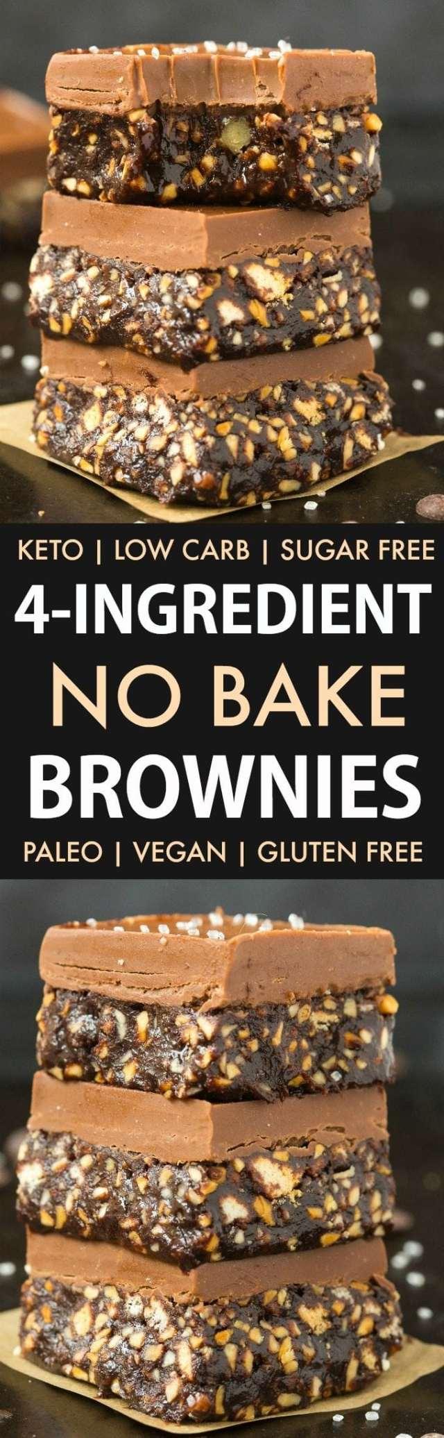 4-Ingredient No Bake Brownies