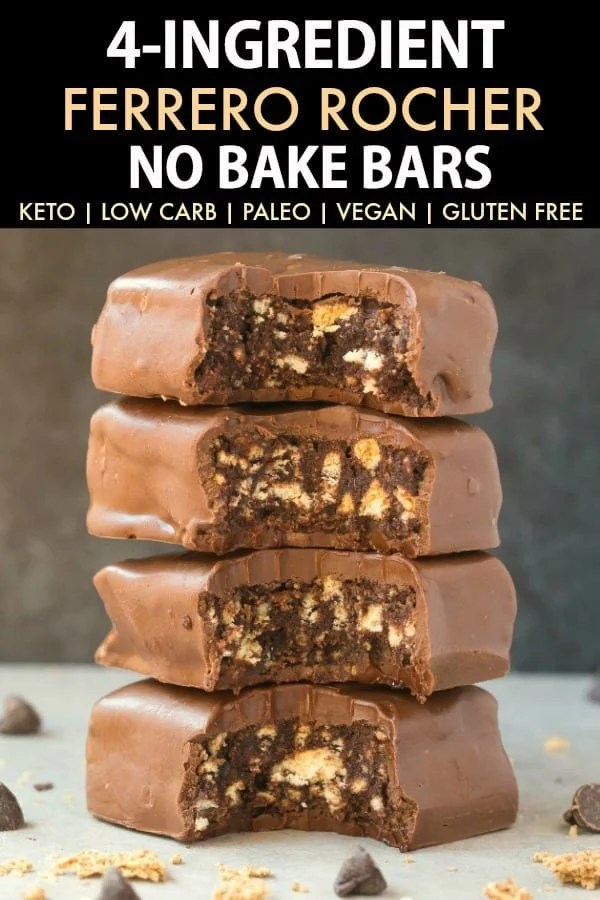 4-Ingredient No Bake Ferrero Rocher Bars
