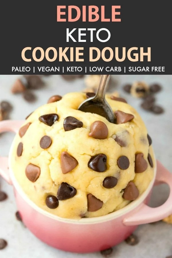 Edible Low Carb Keto Cookie Dough in a bowl