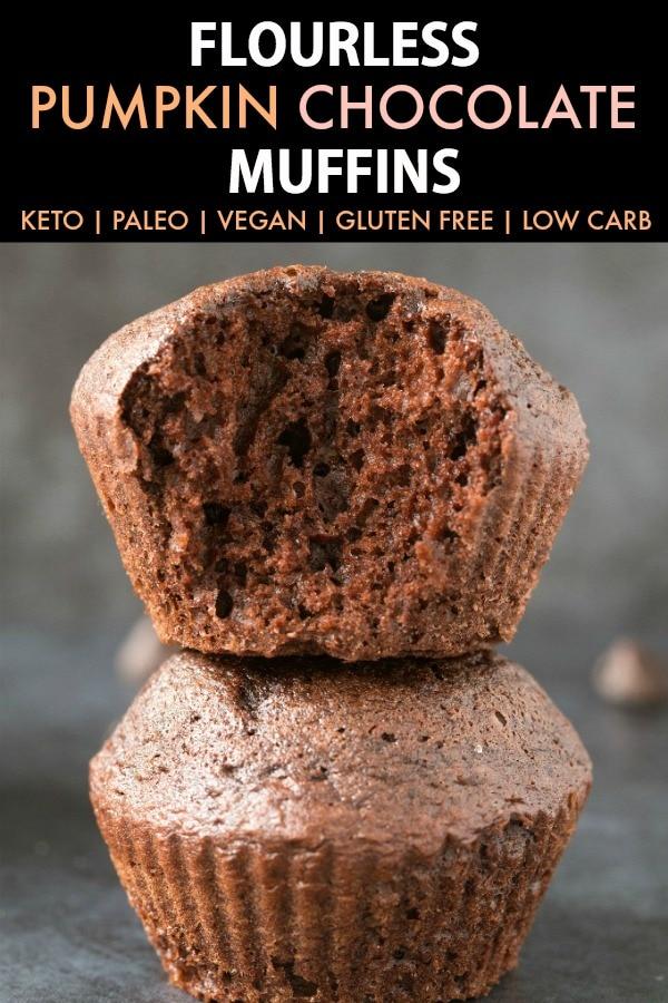 Healthy Flourless Pumpkin Chocolate Muffins