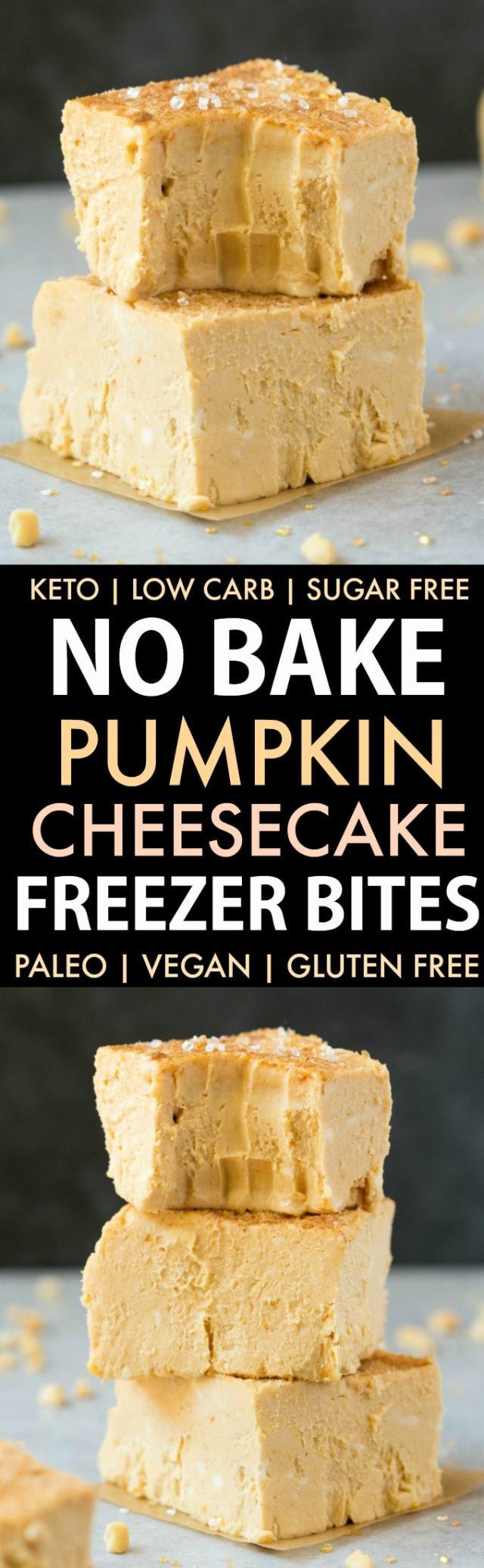 No Bake Pumpkin Cheesecake Bites collage