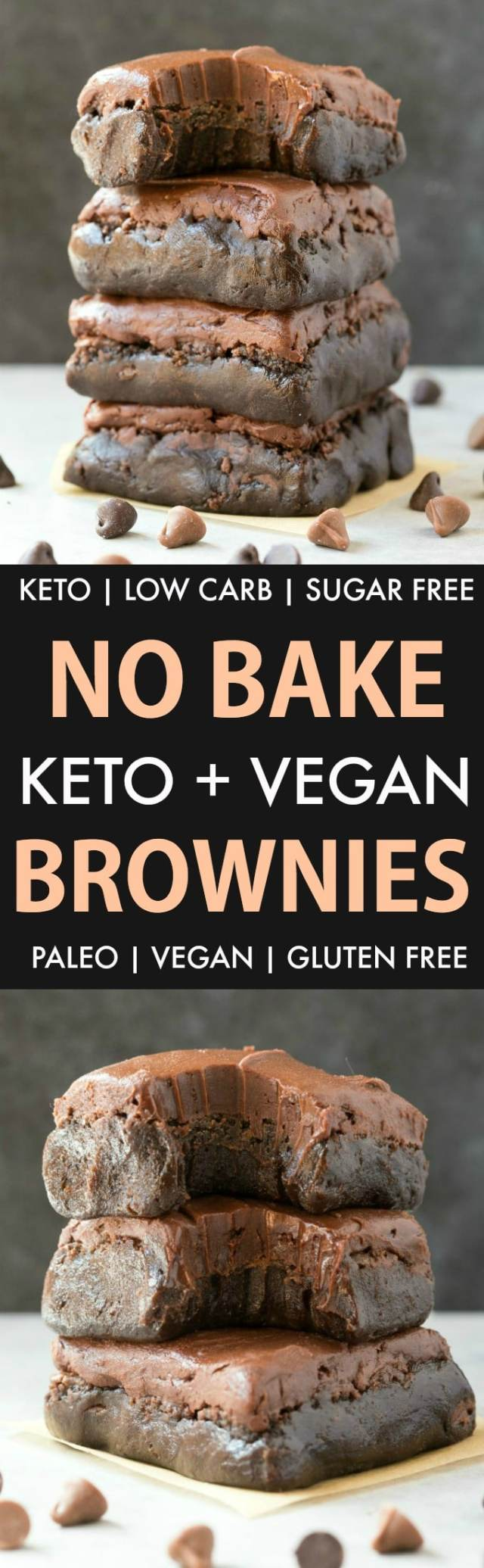 No Bake Paleo Vegan Brownies