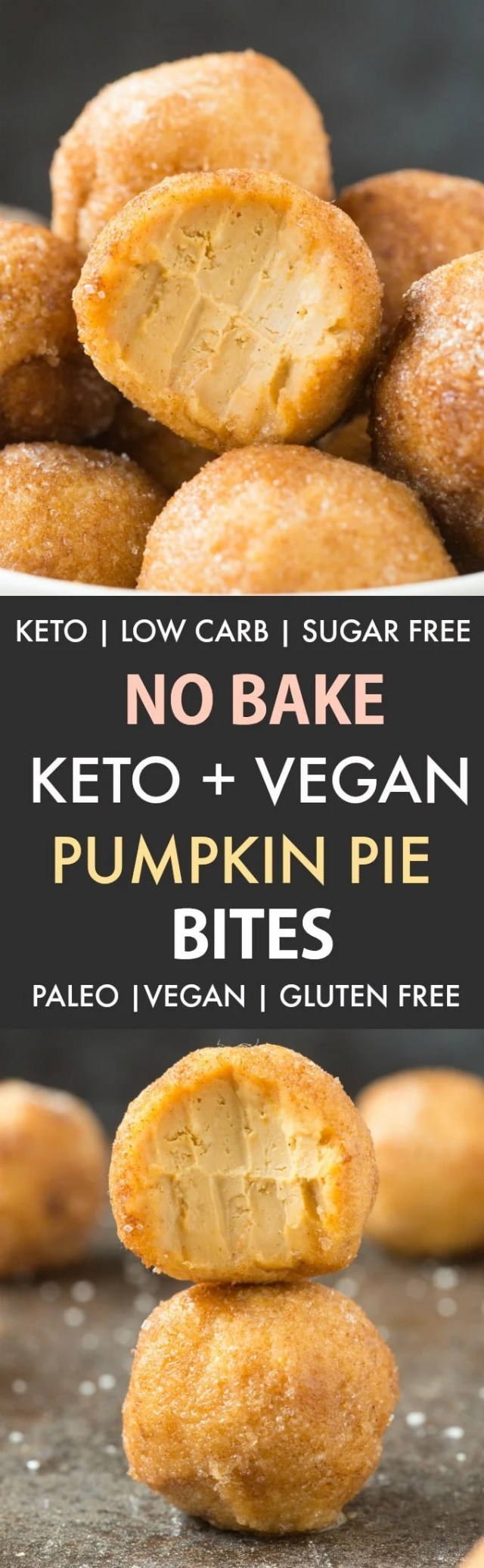 No Bake Keto Low Carb Pumpkin Pie Bites
