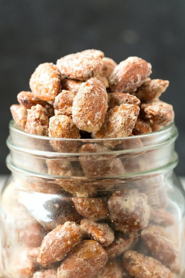 Sugar Free Stovetop Candied Cinnamon Almonds