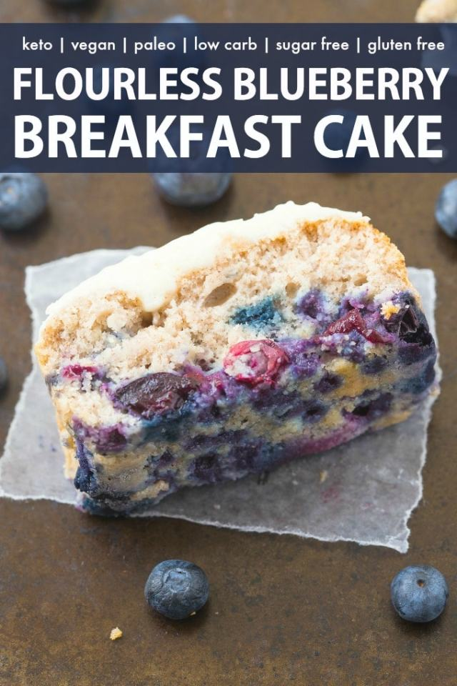 Healthy Keto Blueberry Breakfast Cake Vegan Paleo