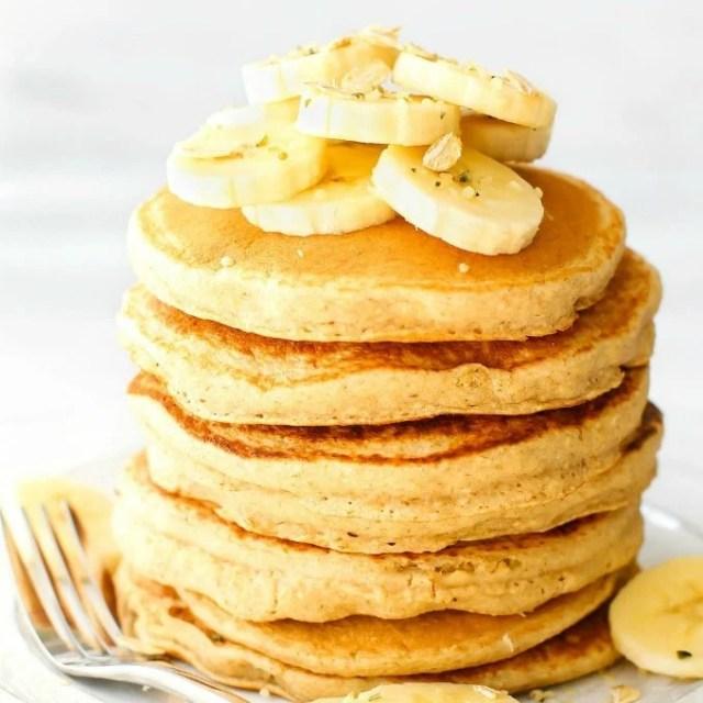 healthy flourless banana pancakes (gluten free, vegan)