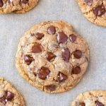 Easy chewy healthy vegan and sugar free chocolate chip cookies