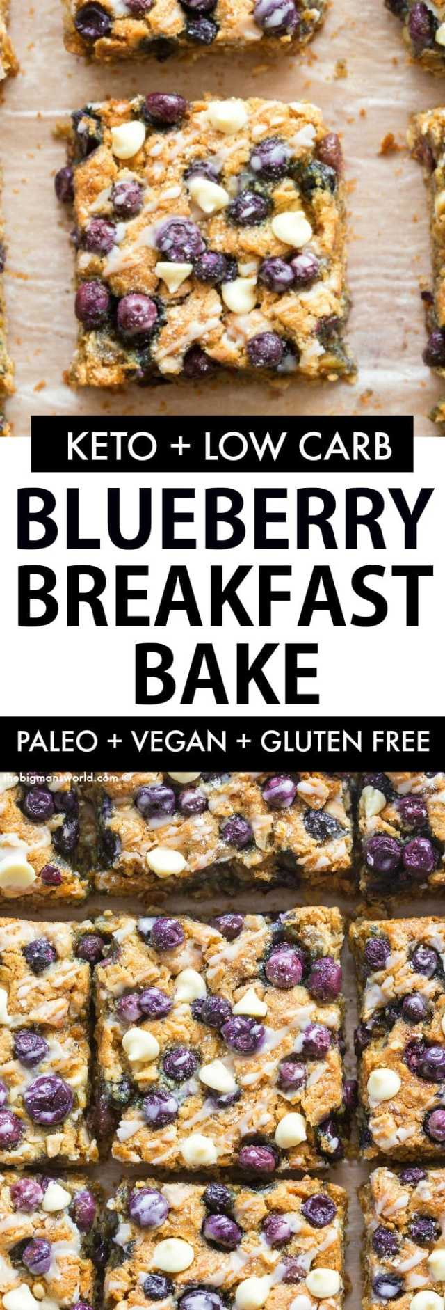 Blueberry Baked Oatmeal with a paleo and keto option- Using rolled oats, banana and peanut butter!