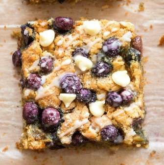 Easy homemade blueberry breakfast bake oatmeal- No sugar and sweetened with banana!