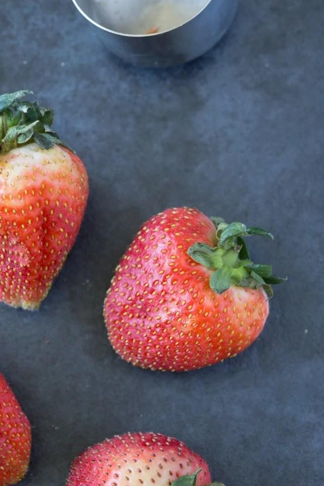 fresh strawberries for strawberry oatmeal bars