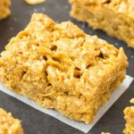 Easy Peanut Butter Bars with cornflakes